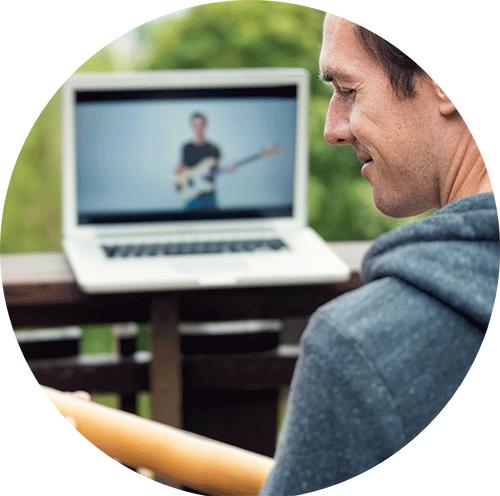 Bass lesson online